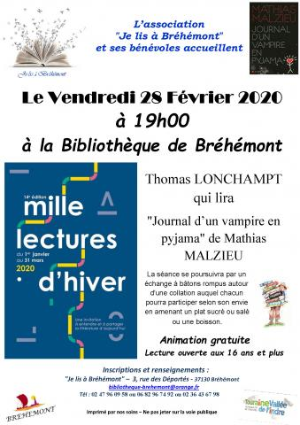 affiche Mille lectures