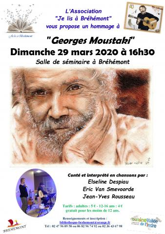 affiche concert hommage Georges Moustaki